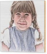 Little Girl Wood Print
