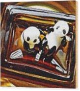 Little Glass Pandas 43 Wood Print
