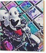 Little Glass Pandas 45 Wood Print
