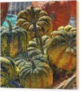Little Gourds Wood Print