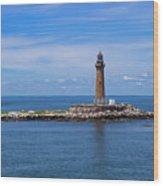Little Gull Lighthouse Wood Print