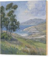 Little Harbor - Catalina Island Painting Wood Print