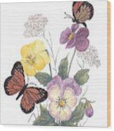 Little Heartsease Wood Print