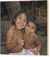 Little Indians  Amazon Wood Print