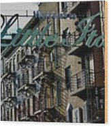 Little Italy In New York Wood Print