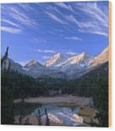 Little Lakes Valley Panorama Wood Print