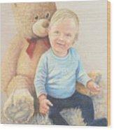 Little Man Wood Print