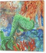Little Mermaid Wood Print by Jennifer Kelly