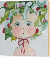 Little Miss Innocent Ivy Wood Print