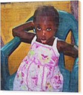 Little Orphan Girl Wood Print