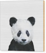 Little Panda Wood Print