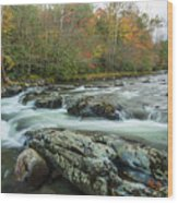 Little Pigeon River In Autumn In Smoky Mountains In Autumn Wood Print