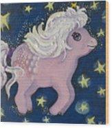 Little Pink Horse Wood Print