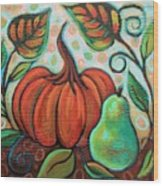 Little Pumpkin 2 Wood Print