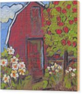 Little Red Barn Wood Print