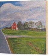 Little Red Barn On Detrick Rd Wood Print