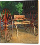 Little Red Buggy Wood Print
