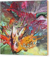 Little Red Dragonmaker Wood Print
