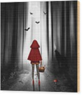 Little Red Riding Hood And The Wolf Wood Print