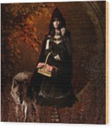 Little Red Riding Hood Gothic Wood Print