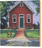 Little Red Schoolhouse Nature Center Wood Print