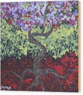Little Red Tree 2 Wood Print