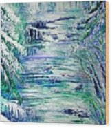 Little River Canyon Ice Storm Wood Print