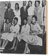Little Rock Nine And Daisy Bates Posed Wood Print