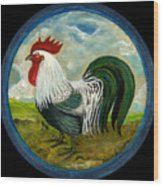 Little Rooster Wood Print by Anna Folkartanna Maciejewska-Dyba