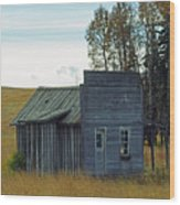 Little Rustic Shack Wood Print