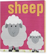 Little Sheep Wood Print by Linda Woods