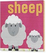Little Sheep Wood Print by Linda Woods