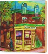 Little Shop On The Corner Wood Print