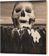 Little Sisters Of The Divine Skull Wood Print