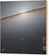 Little Sombrero Galaxy Ngc 7814 Wood Print