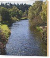 Little Spokane River Wood Print