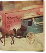 Little Stagecoach Wood Print
