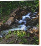Little Stream Wood Print