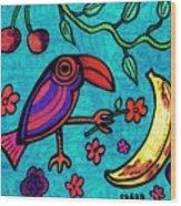 Little Toucan Wood Print