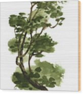 Little Tree 131 Wood Print