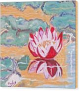 Little Water Lilly  Wood Print
