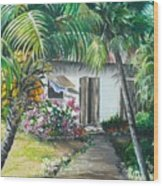 Little West Indian House 2...sold Wood Print
