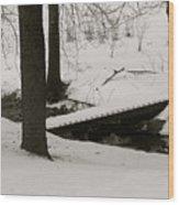 Little Winter Crossing Wood Print