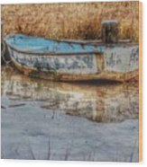 Little Wooden Boat Wood Print