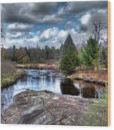 Big Woodhull Creek Wood Print