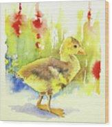 Little Yellow Duck Wood Print