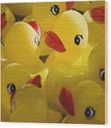 Little Yellow Duckies Wood Print