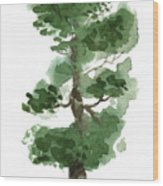 Little Zen Tree 144 Wood Print