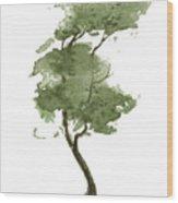 Little Zen Tree 206 Wood Print