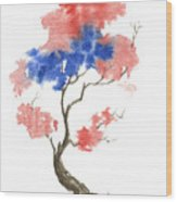 Little Zen Tree 291 Wood Print
